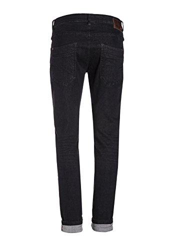 Timezone Herren Jeans Slim Scott Super Stretch Schwarz (Black Vintage Wash 9019)