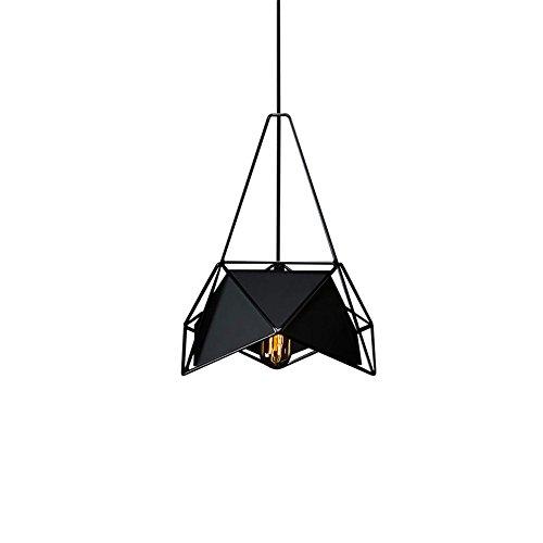 illumination KD Geometrische Minimalistische Facettenreiche Kreative Kunst Bar Esszimmer Kronleuchter, Schwarz Verstellbare Hängenden Linie 100Cm Durchmesser 40 * 50Cm Pine Cone Fan