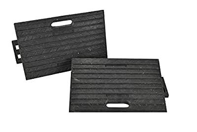2X Rubber Kerb Ramps Threshold Cars Caravans Wheelchair Mobility Access Pass