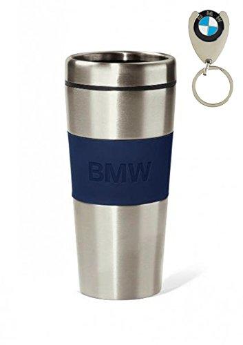 BMW - THERMOS ORIGINALE BMW, 350 ml, CON LOGO, IN ACCIAIO INOX DI ALTA QUALITÀ + GETTONE PER IL CARRELLO DELLA SPESA CON LOGO BMW GRATUITO