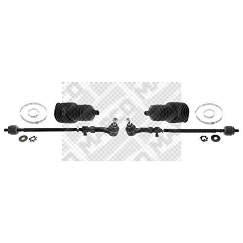 MAPCO 53160/1 Spurstange Links und Rechts mit Manschetten und Schellen, 2 Stück