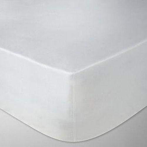 LinenZone - Sábana Bajera Ajustable de algodón Egipcio de 400 Hilos, Extra Profunda Calidad de Hotel...