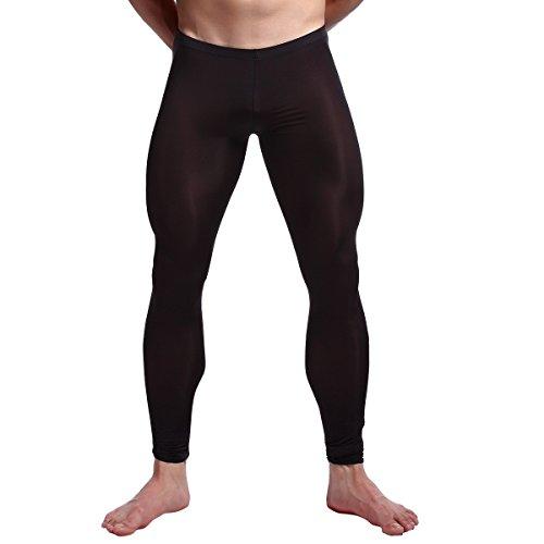 iEFiEL Herren Strumpfhose Leggings Hose Tights sexy Transparent Unterwäsche Strumpfhose Lange Pantyhose Schwarz XL (Shorts Leggings Strumpfhose)