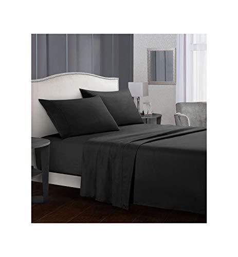 GYYbling Bettwäsche Set Kurz Bettwäsche flaches Blattes + Spannbettlaken + Pillowcase Königin/King Size Grau weiches bequemes weißes Bett-Set, 10, Twin -