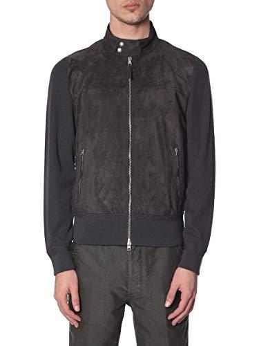 Tom Ford Herren Bsm93tfk154k06 Grau Leder Jacke