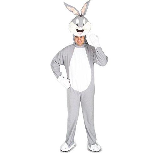 Bunny Bugs Kostüme (Original Lizenz Bugs Bunny Kostüm Warner Bros Loony Tunes schlau klug verwitzt Hase videospiel Spiel Gameboy Cartoon Trickfilm Trick-Film Gr.)