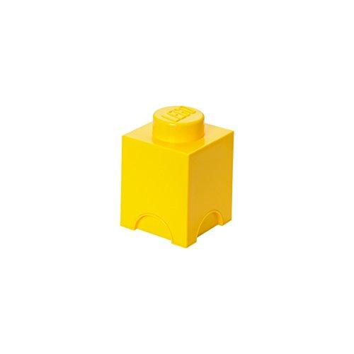 Brique de rangement LEGO 1 plot, Boîte de rangement empilable, 1,2 l, jaune