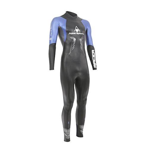 Racer Neoprenanzug, schwarz/blau thumbnail