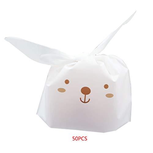 Floridivy Süßigkeit, Keks, Keks Beutel Lebensmittel-Pakete Nette Katzenohren Geschenk-Verpackungs-Beutel-Ostern-Party-Dekoration