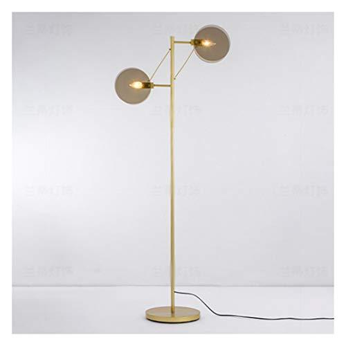 Warm Amber Glas (BEN-YI Stehlampe Doppel High Light Glas Wohnzimmer Stehlampe Post Moderne Schlafzimmerlampe -190 Stehlampe (Color : Amber, Size : Warm Light))