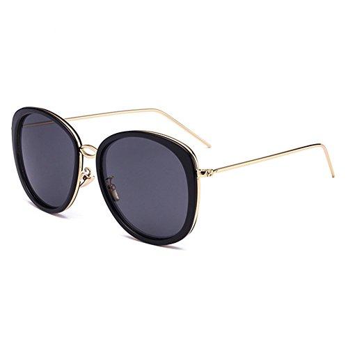 Z-P Vintage Style For Unisex Metal Round Frame Coating Lens Anti-UV Geek Sunglasses 53MM