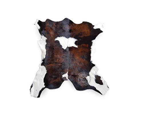 Sunshine Cowhides Teppich Kuhfell Färsenleder Farbe: Tricolor, Größe Circa 90 x 70 cm Premium - Qualität von Pieles del Sol aus Spanien