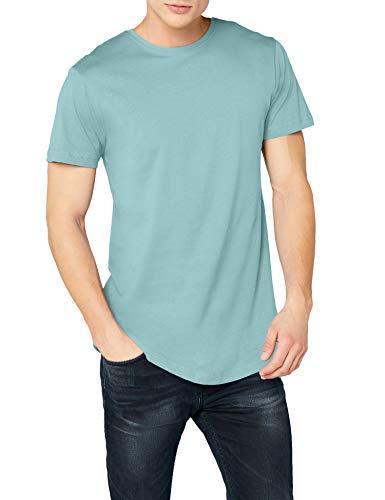 Urban Classics Herren Shaped Long Tee T-Shirt, Blau (bluemint), L
