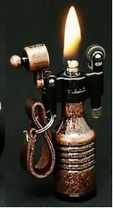 Sturmfeuerzeug, benzinbetrieben, Vintage-Optik, Bronze