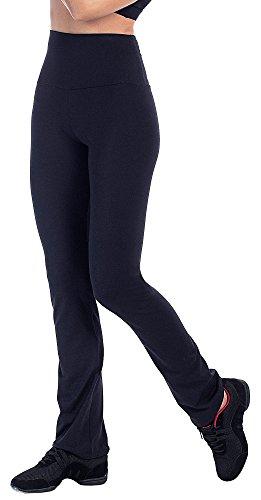 Bwell Sportswear 2388 - Pantalón Recto Vientre Plano para Mujer, Color Negro, Talla XS