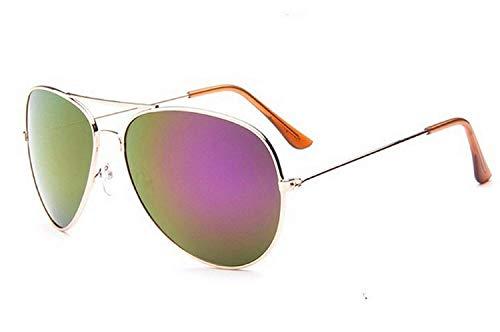 Inception Pro Infinite (Golden Frame - Pink Lens Sonnenbrille - Herren - Damen - Unisex - Flieger - Spiegel - Drop - Classic