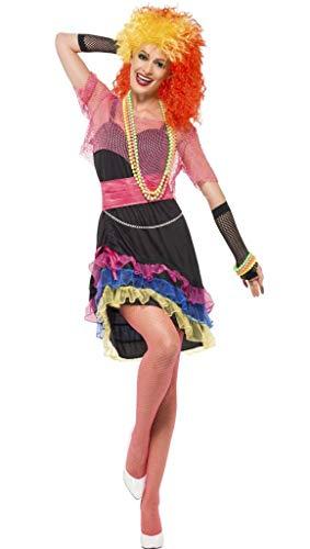 1980s Jahre 80s Jahre Neon Spaß Mädchen Pop Star Symbol Maskenkostüm Party Outfit - Mehrfarbig, 8-10 ()