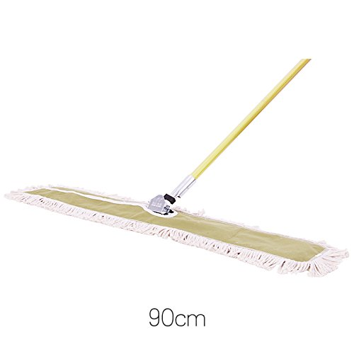 Piatto polvere Mop Mop filato in puro cotone Set Mop,90CM