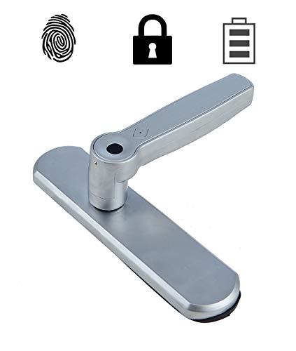 Screl Serrure biométrique Empreinte Digitale poignée de Porte réversible (Intérieur 1,...