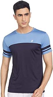 Amazon Brand - Symactive Men's Color Block Regular Fit Half Sleeve Sports T-S