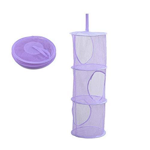 jieGorge❄ Klappbarer Aufhängekorb ❄ Hängende Tasche Lagerung Mesh Net Organizer Wäsche Spielzeug Handtuch Socken Schrank Aufhängetasche