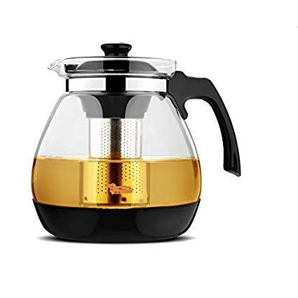 DD RETAILS Heat-Resistant Glass Filter teapot Large-Capacity Flower teapot Teacup Puer teapot Stainless Steel teapot