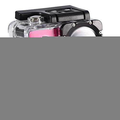 Tosuny Mini Sportkamera mit 2.0 Zoll HD Bildschirm, USB2.0 Action Camera 90 ° Weitwinkel wasserdicht, unterstützt 32 GB Speicherkarte, für Kinder, Extremsport und Outdoor-Sportaktivitäte(Rosa) -