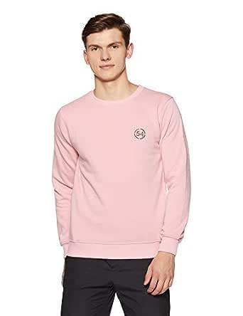 Qube By Fort Collins Men's Sweatshirt (929250 SMU_Pink Milange_XXL)