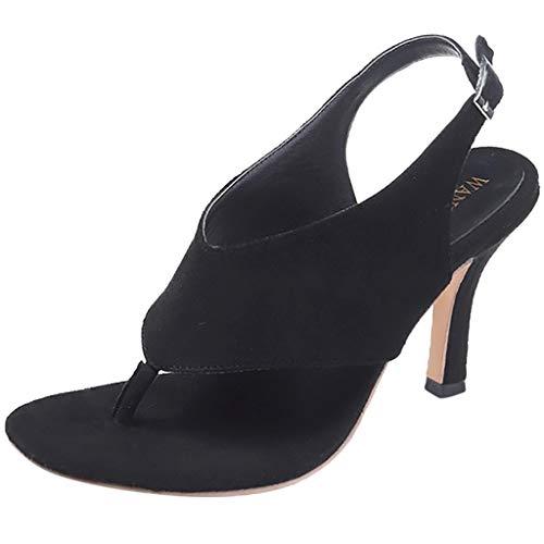 Thong Heel Schuh (Wawer -Mode Frauen Sommer Pumps Thong Sandalen Stiletto High Heel Gürtelschnalle Schuhe-Große Damenschuhe Frauen Espadrilles Lässig Sandalen Strandschuhe Einzelne Schuhe High Heels)