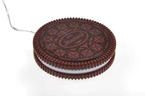 Monsterzeug Hot Cookie Tassenwärmer, Kaffeewärmer in Plätzchen Design, Mini USB Heizplatte für Kaffeebecher, Keks Warmhalteplatte für Teetassen, bis 60°C warm, Braun, Durchmesser 10 cm