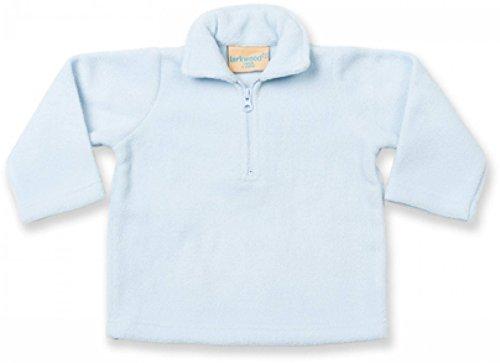 Kinder-/Babypullover Larkwood Micro Fleece Pullover Kids Zip Neck 6 bis 12 Monate - 24 bis 36 Monate (18 - 24 Monate / 86 - 92 cm, Hellrosa...