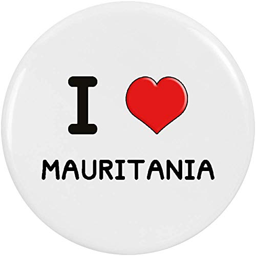 Azeeda 2 x 38mm 'I Love Mauritania' Piccolo Distintivo del Bottoni (BB00000664)