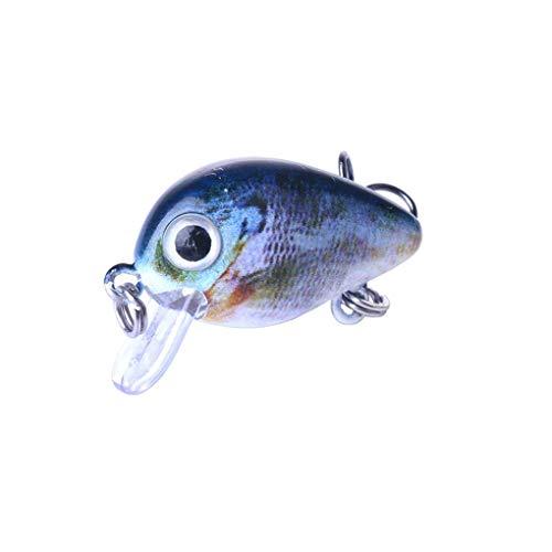 Bomcomi 2.7CM / 1.5G 15st Wobbler Fischköder 3D Eyes Bunte künstliche Haken Fischköder Popper Crankbait Sinking Lure -