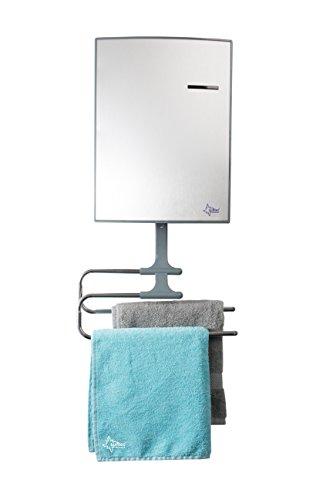 SUNTEC Bad-Heizer Heat Stream 2000 cubic [Für Räume bis 60 m³ (~25 m²), mit 2-fach Handtuchhalterung, Frostwächterschutz, Wandmonatge, 2000 Watt]