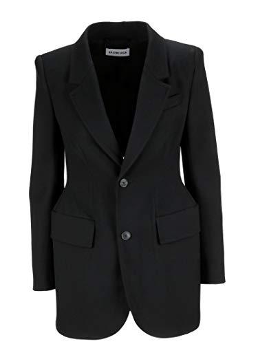 Balenciaga Damen 503722TYI201000 Schwarz Wolle Mantel