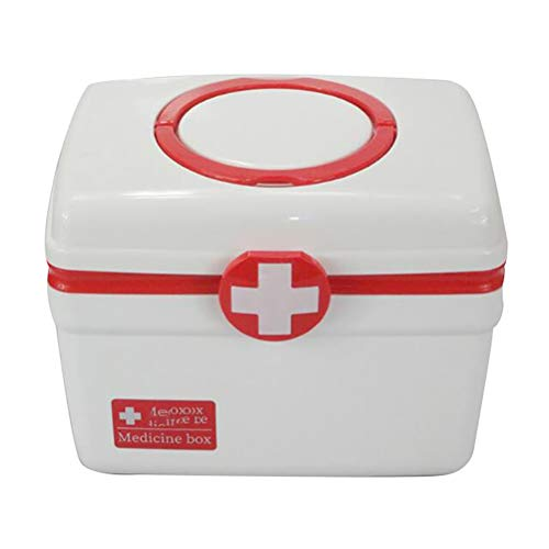 SMEI Multilayer Medizin Aufbewahrung Box Notfall Erste Hilfe Kit Outdoor Wasserdicht Eportable Pille Box Medizin Organizer Container rot - Erste-hilfe-kit Bereit