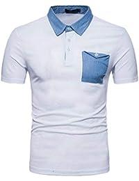 4e1245ca6679b Camisa De Polo para Hombre De Deportiva Slim Fit Verano Ropa Transpirable  De Manga Corta Camisetas