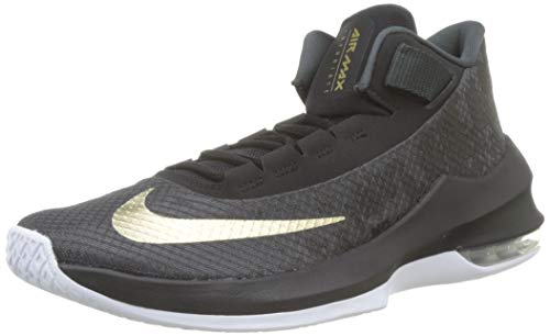 Nike Herren Air Max Infuriate 2 Basketballschuhe, Schwarz (Anthracite/Metallic Gold-Black-White 002), 41 EU (Nike Air Max Special)