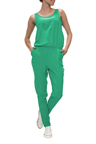 ONLY Damen Jumpsuit Overall Einteiler Jumpsuit Unifarben Basic -