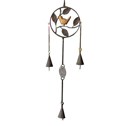 Forepin® Piccolo Carillon Vento Appeso Wind Chime Windbells per Giardino Ornamento Interno All'aperto - Rotondo - Artigianale Di Vetro Ornamento