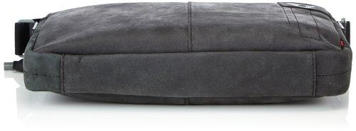 Strellson Richmond ShoulderBag MH 4010001263 Herren Schultertaschen 34x25x6 cm (B x H x T), Schwarz (black 900) Schwarz (black 900)