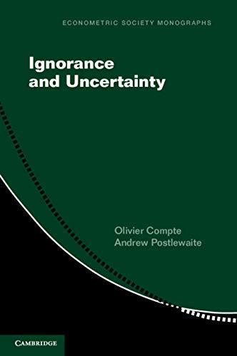 Ignorance and Uncertainty (Econometric Society Monographs)