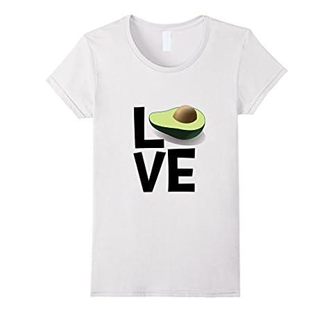 Love Avocado Graphic Tshirt Damen, Größe S Weiß
