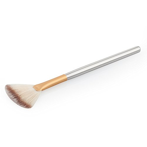Fächer-Form Make-up Pinsel Kosmetik Bürste - Braun Gold, 18,5 * 0,8 * 0,8 cm -