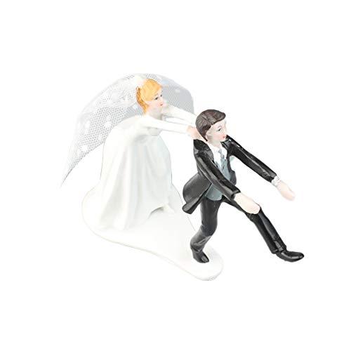 Ben-gi Harz-Braut und Bräutigam Figuren Home Furnishings Hochzeit Dekoration Geschenk Puppen Jahrestag Kuchen-Deckel (Harz Braut Und Bräutigam-kuchen-deckel)