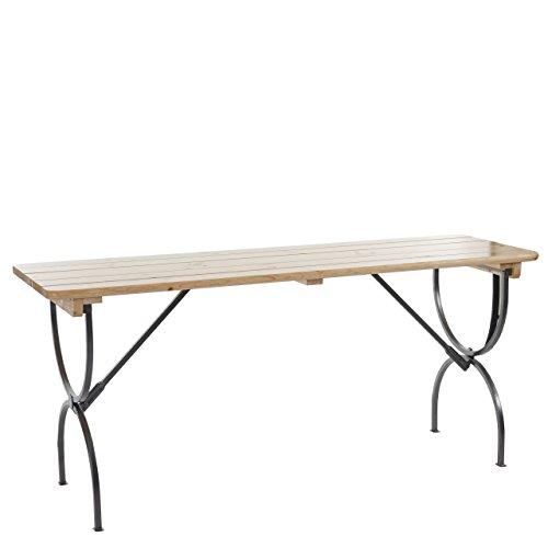 Mendler Tisch Linz für Gastronomie Festzeltgarnitur, Biertisch Bierzelttisch, lackiert ~ 180 cm
