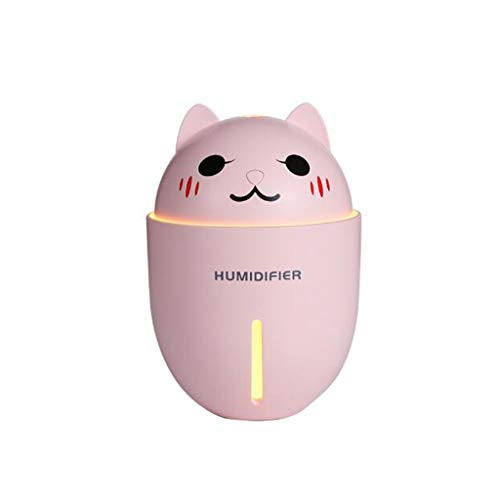 YUN USB Cute Pet Cartoon Mini Luftbefeuchter Büro Dormitory Desktop Drei-in-One-Spray (Farbe : Pink)