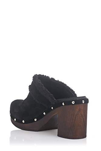 Laura Moretti Damen Swedish Nailed Shoes Clogs Schwarz