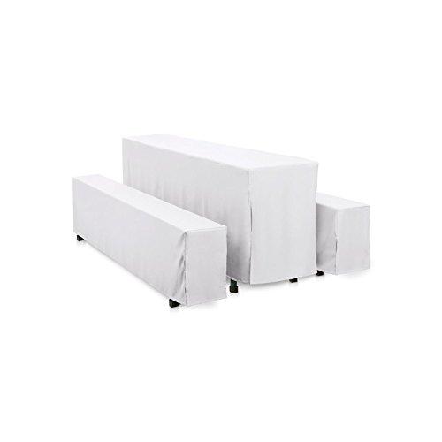 Hussen-Set 220x70 cm + 2x 220x25 cm, Weiß, Polyester, bodenlang, pflegeleicht, gewebt, langlebig,...