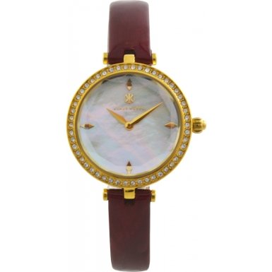 Klaus Kobec KK-10001-01 Ladies Angel Gold Plated Watch with Swarovski Crystal Bezel